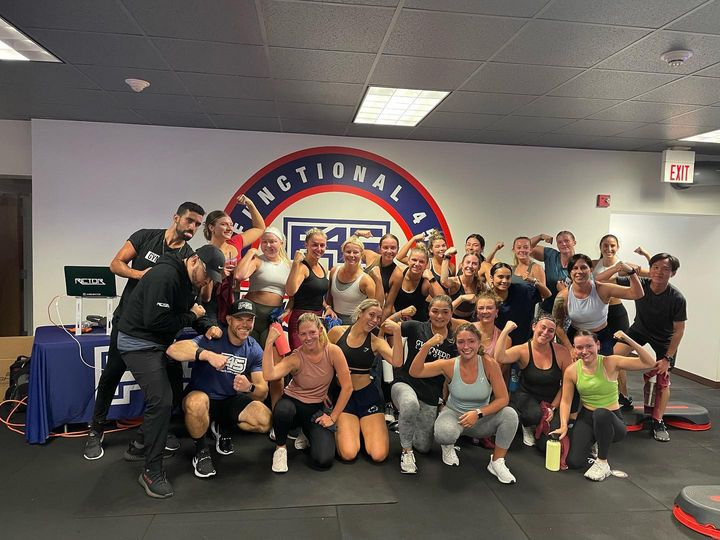 Second Champs X F45 HIIT workout in the books! Thanks to @f45_training_statecollege for having us and @iamdjrictor for supplying the good vibes.